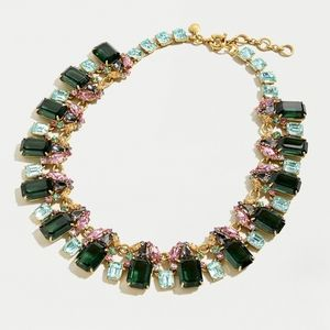 Looking for! J Crew Green Cluster Drop Necklace